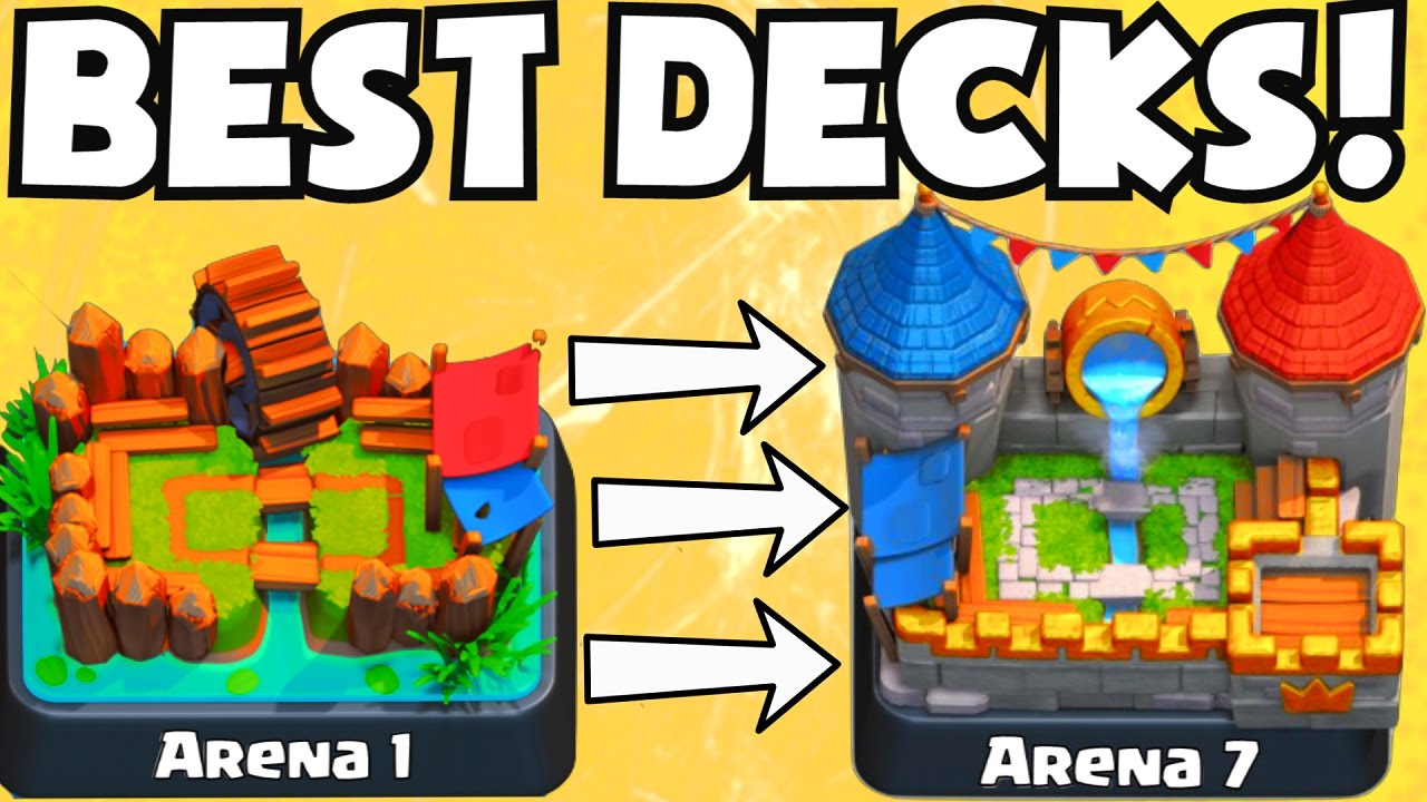 Clash Royale Best Arena 1 Arena 7 Decks No Legendary Cards Best Attack Strategy For F2p Players Youtube