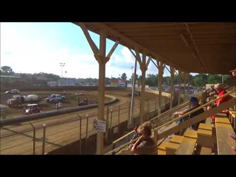 TERRY BROWN 18B RACING MODIFIED HOT LAPS BELLE CLAIR JULY 28, 2017