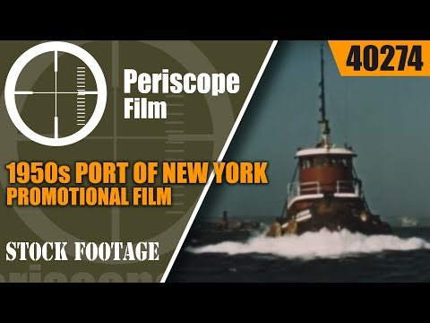 1950s PORT OF NEW YORK PROMOTIONAL FILM  40274