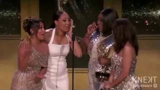 THE REAL WINS EMMY AWARD  2018 - DAY TIME TALK SHOW HOST  |  And Tamera!!!