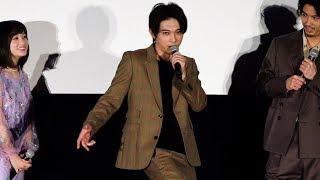 映画『斉木楠雄のΨ難』の初日舞台あいさつが行われ、主演の山崎賢人をは...