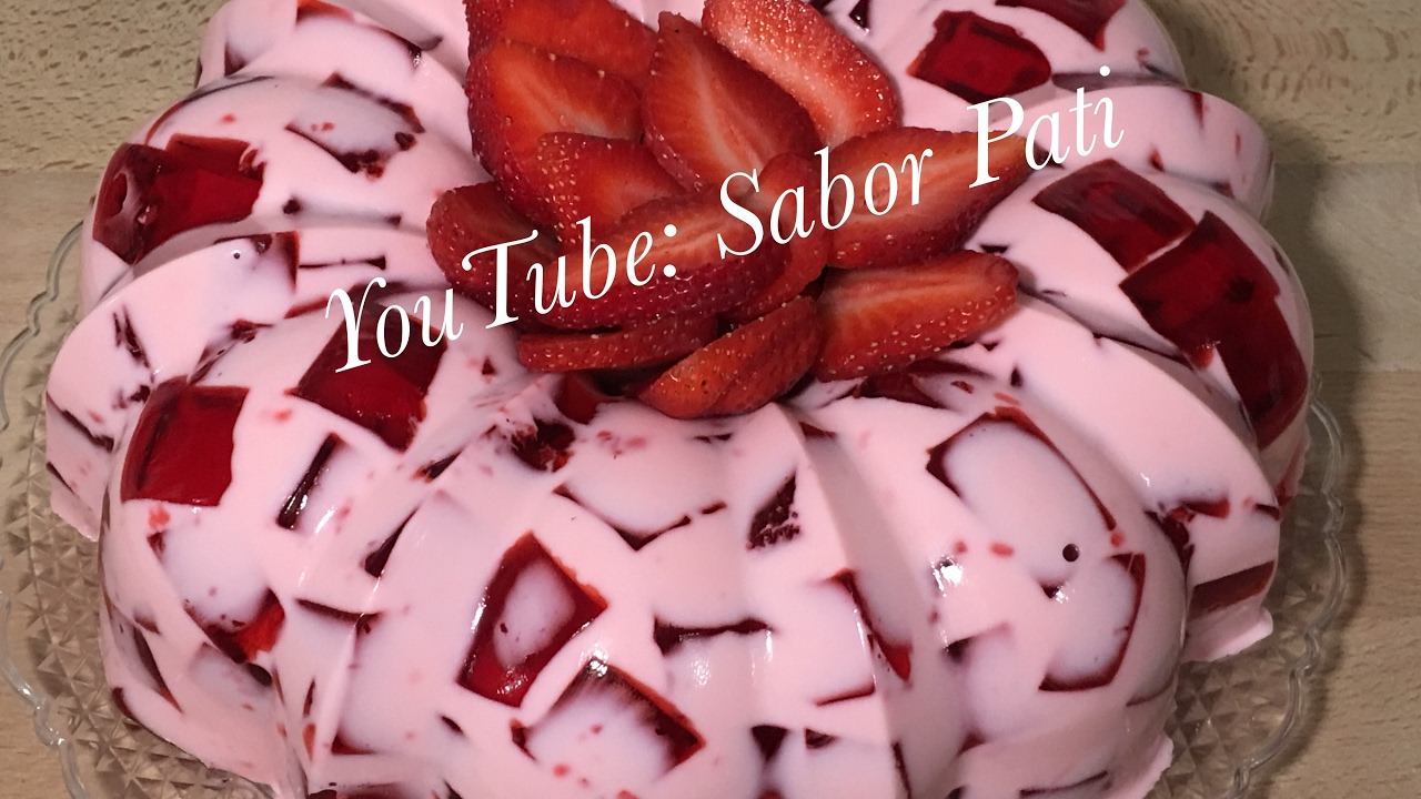 receta de gelatina de fresa natural