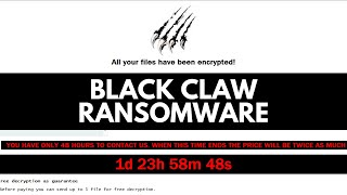 Black Claw Ransomware | Jigsaw Evolved?
