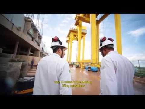 Sediment Removal System at Hydro Power Plant Jirau's intake