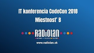 4. 4. 2018 IT konferencia CodeCon 2018 - Miestnosť B