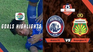 Arema FC (3) vs (2) Bhayangkara FC - Goals Highlights | Shopee Liga 1
