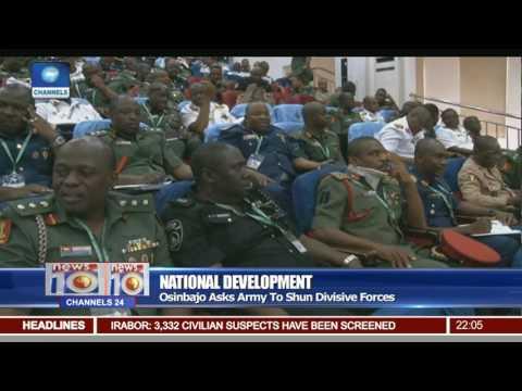 Osinbajo Asks Army To Shun Divisive Forces