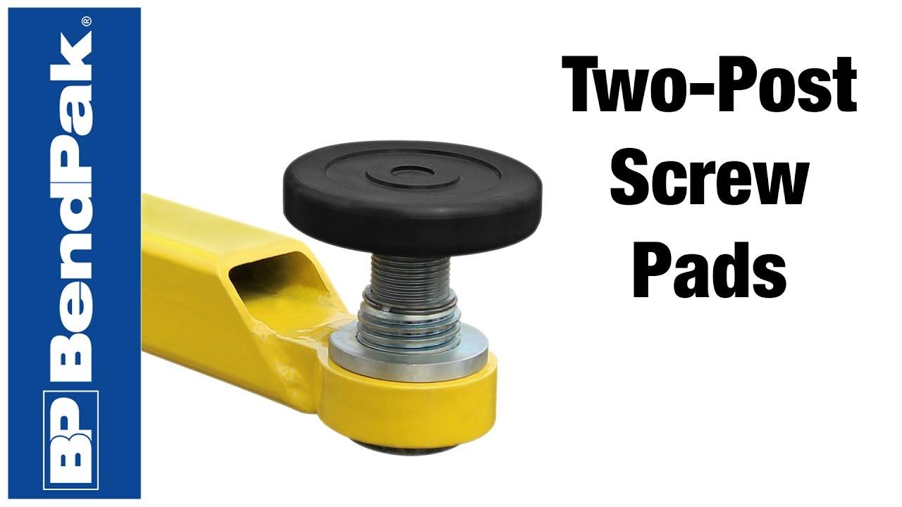 BendPak New Two-Post Screw Pad Adapter Demo