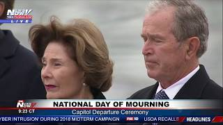 FULL HONOR: President George H.W. Bush Capitol Departure Ceremony