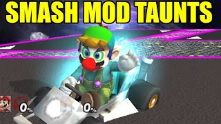 FUNNY, UNIQUE and BIZARRE TAUNTS From Super Smash Bros Mods