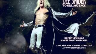 Dee Snider TO HELL AND BACK