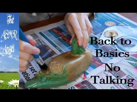 Back to Basics ASMR - No Talking - Painting Sounds
