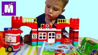 Пожарная станция Лего Дупло 10593 играем в конструктор с машинками Lego Duplo set 10593 Fire station