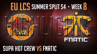 Video LCS Highlights Supa Hot Crew vs Fnatic Week 8 EU Summer 2014 SHC vs FNC S4 W8D1 Season 4 download MP3, 3GP, MP4, WEBM, AVI, FLV Oktober 2018