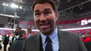'MY B**HOLE WAS GOING' - EDDIE HEARN REACTS TO ANTHONY JOSHUA DESTROYING POVETKIN, & PRICE DEFEAT