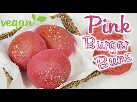 Pink Burger Buns I Ohne Lebensmittelfarbe I Vegan