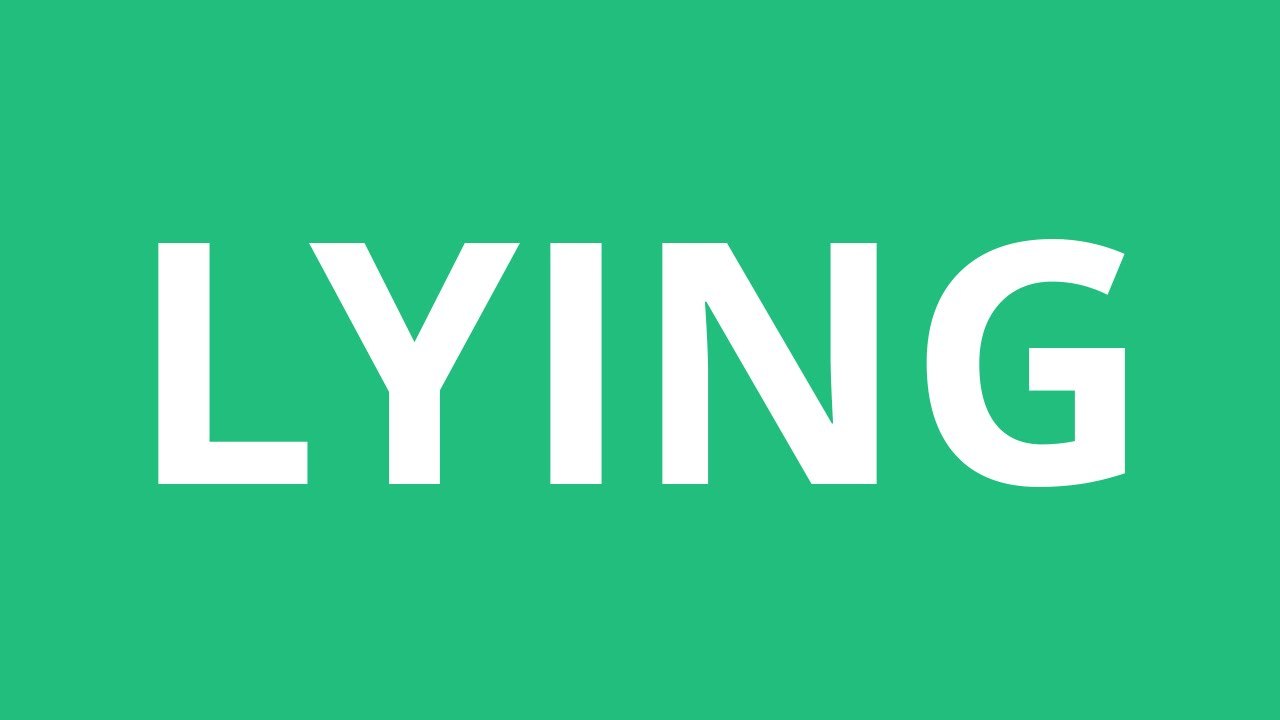 How To Pronounce Lying - Pronunciation Academy
