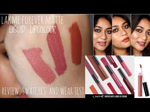 lakme-forever-matte-liquid-lipstick-review,-swatches-&-wear-test-|-adity-singh