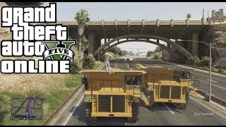 GTA Online - Three Big Yellow Dump Trucks (Funny Moments)