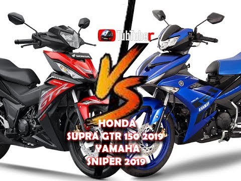 HONDA SUPRA GTR 150 2019 Compared Specifications YAMAHA SNIPER 2019 HD