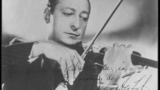 Heifetz plays Sinding Suite in A minor - I Presto