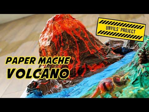 Paper Mache Volcano