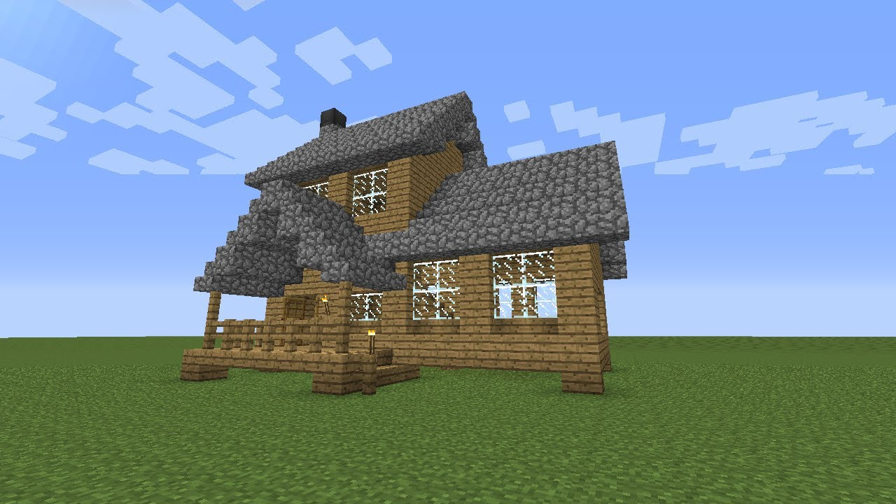 Minecraft How To Build A Wooden House Medium Size YouTube