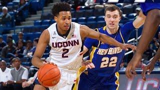 Uconn men's basketball vs. new haven highlights