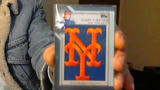 cardshop pickups gary carter topps mets hat logo cutter dykstra nationals auto