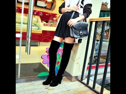 Как выбрать и с чем носить ботфорты (высокие женские сапоги .