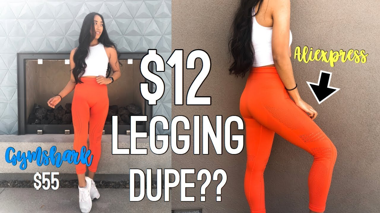 df5b1b9f67276d $12 Gymshark Legging Dupe? Are they worth it? Gymshark Flawless Knit ...