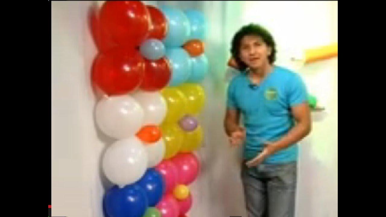 Funvirisa pared de globos programa 11 parte 1 3 for Decoracion para pared de unicornio