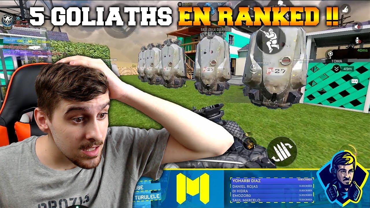 5 GOLIATHS EN RANKED !! COD MOBILE