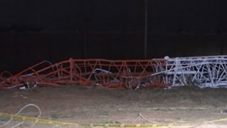 Raw: Plane Hits Lubbock, TX TV Tower