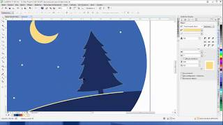 Рисуем елку в Corel Draw X7