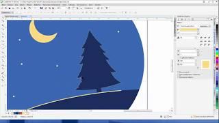 Рисуем елку в Corel Draw X7
