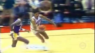 Best In Game Dunk Ever?  Dr. J Julius Erving Dunks On Michael Cooper