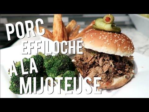 cuisine-facile-Épisode-02-//-recette-de-porc-effiloché-à-la-mijoteuse
