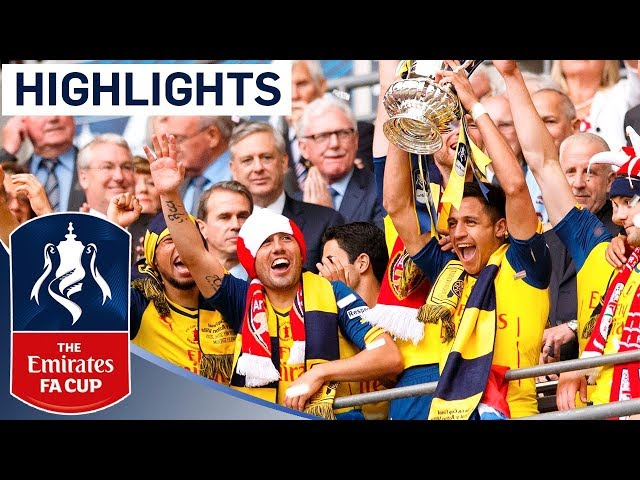 Arsenal 4-0 Aston Villa  - 2015 FA Cup Final | Goals & Highlights