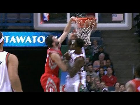 Kostas Papanikolaou dunks all over Larry Sanders!