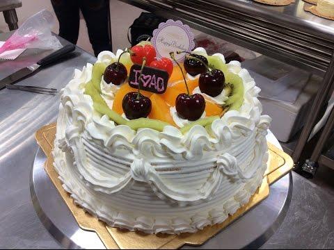 鮮奶油蛋糕的基礎裝飾-AO蛋糕烘焙奧斯汀攪拌機 賀揚 我愛奧斯汀