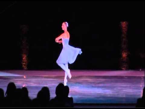 Russian Ballerina Elena Shokhina performing on Lake Las Vegas