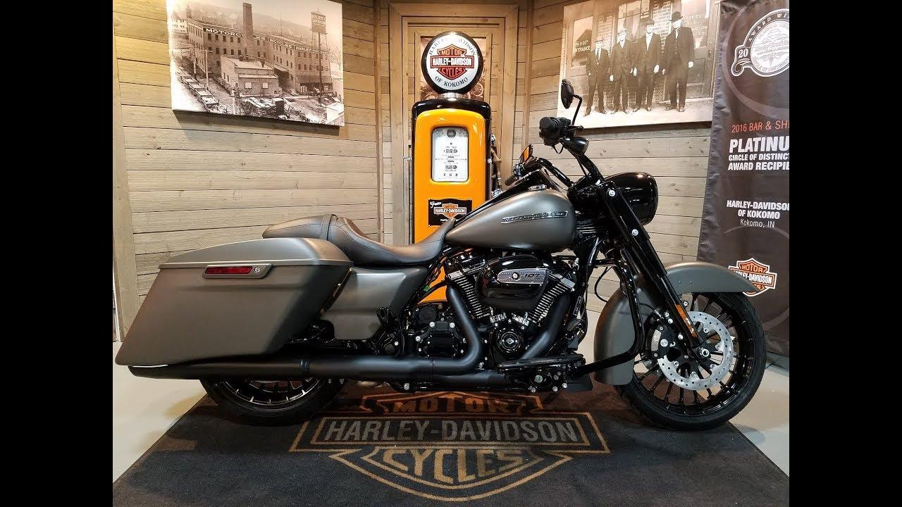 Harley Street Glide For Sale >> 2018 Harley-Davidson Road King Special FLHRXS-industrial grey denim. - YouTube