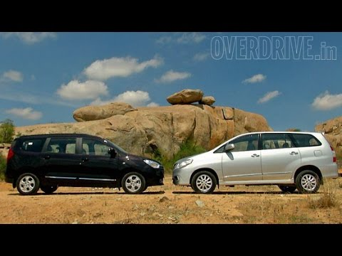 renault lodgy vs toyota innova comparative review youtube. Black Bedroom Furniture Sets. Home Design Ideas