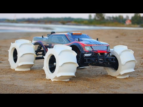 NEW 3D Printed RC Car Tires - Driving on Water!!!