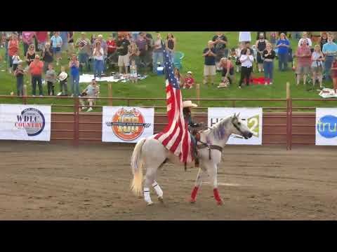 Stampede Rodeo at Orange County Fair Speedway - Introduction & National Anthem 7/5/2019