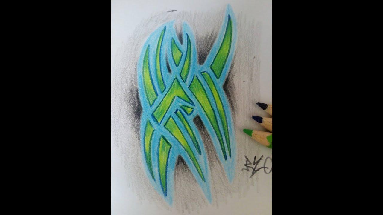 Tribal Zeichnen How To Draw A Tribal Tattoo Design Youtube