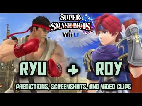 Ryu & Roy DLC Leak - Super Smash Bros. 4 3DS & Wii U (Seems Legit)