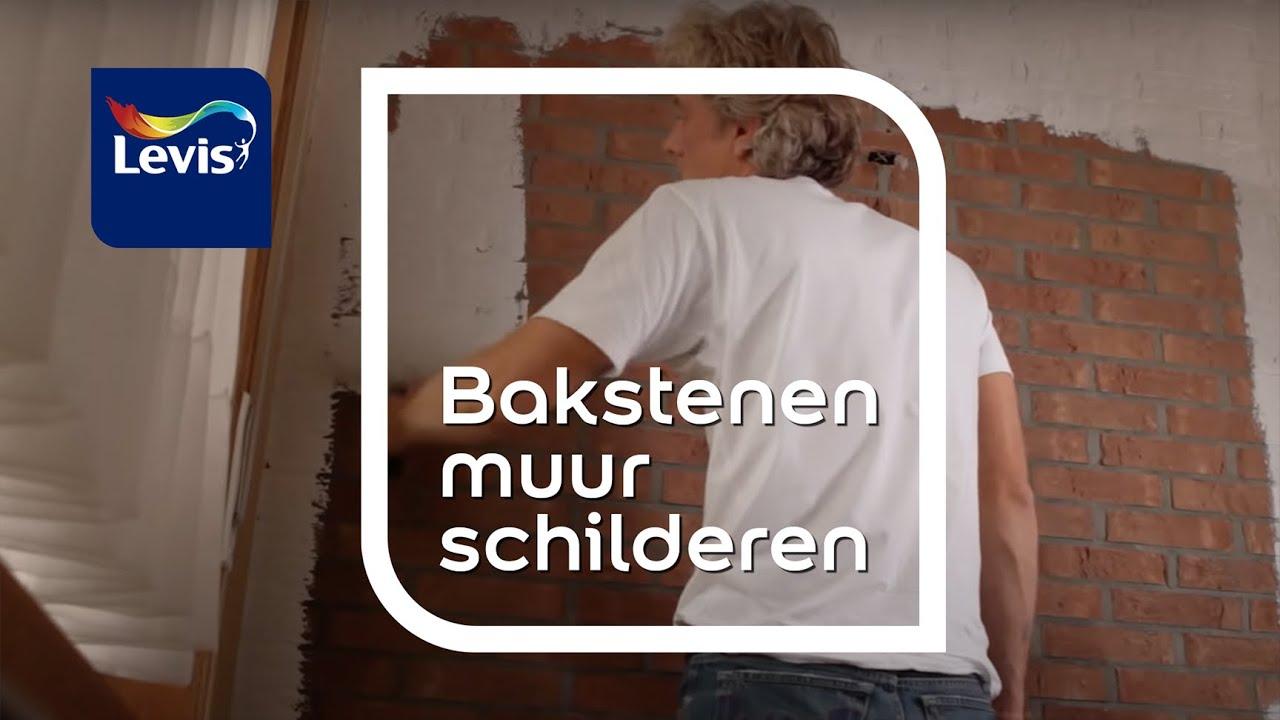 hoe bakstenen muren schilderen levis youtube
