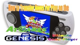 How to Transfer Roms for Play on the AtGames Sega Genesis Portable